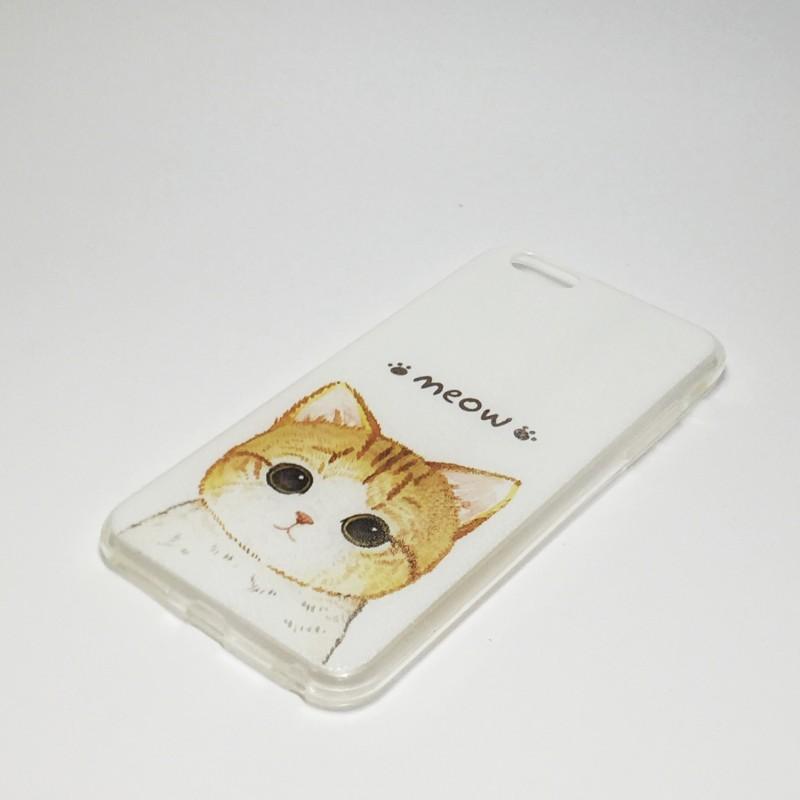 Бампер пластиковый на Iphone 6 plus Мяу